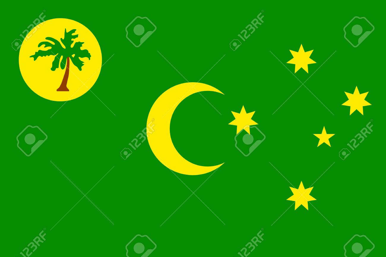 79098056 vector national flag of cocos keeling islands patriotic sign in official country color and moon star